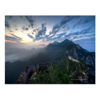 Cartão Postal Grande Muralha de China, seção não restaurada de