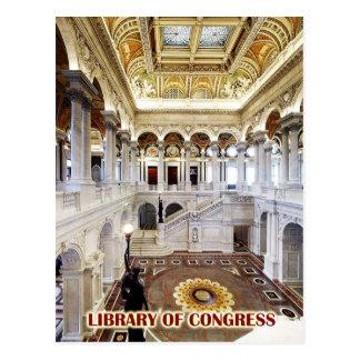 Cartão Postal Grande salão, Biblioteca do Congresso, Washington,