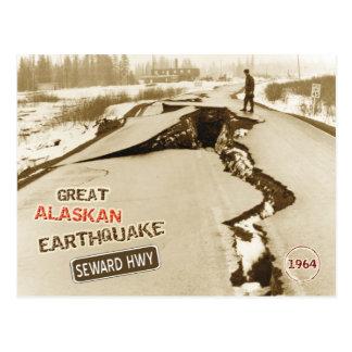 Cartão Postal Grande terremoto 1964 do Alasca