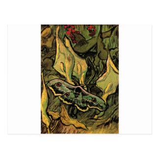 Cartão Postal Grande traça do pavão por Vincent van Gogh