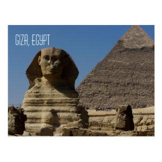 Cartão Postal Grande viagem de Giza o Cairo Egipto da estátua da
