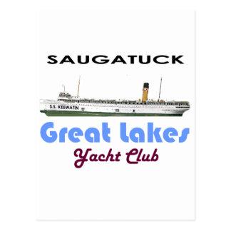 Cartão Postal Grandes lagos do yacht club de Saugatuck Douglas