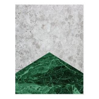 Cartão Postal Granito concreto #412 do verde da seta
