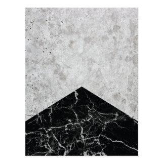 Cartão Postal Granito concreto #844 do preto da seta