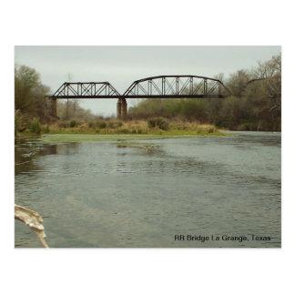 Cartão Postal Granja do La da ponte do RR, Texas