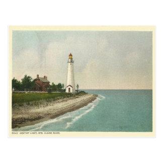 Cartão Postal Gratiot Michigan claro