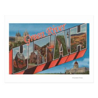 Cartão Postal Green River, Utá - grandes cenas da letra