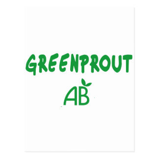 Cartão Postal Greenprout ecológico