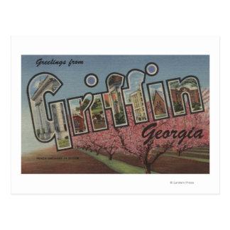 Cartão Postal Grifo, Geórgia - grandes cenas da letra