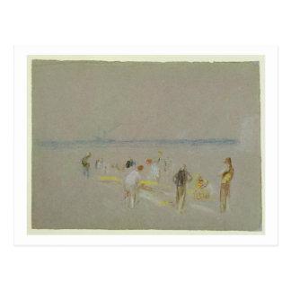 Cartão Postal Grilo nas areias de Goodwin (giz, w/c & bodycol