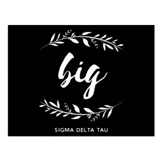 Cartão Postal Grinalda grande da tau | do delta do Sigma
