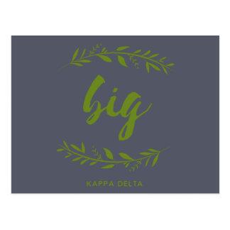 Cartão Postal Grinalda grande do delta do Kappa