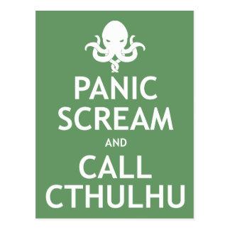 Cartão Postal Gritar do pânico e chamada Cthulhu