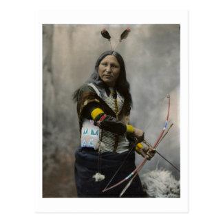 Cartão Postal Grito no indiano de Oglala Sioux 1899