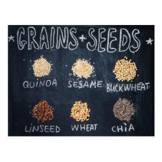 Cartão Postal Grões e sementes
