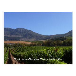 Cartão Postal Groot Constantia - Cape Town - África do Sul