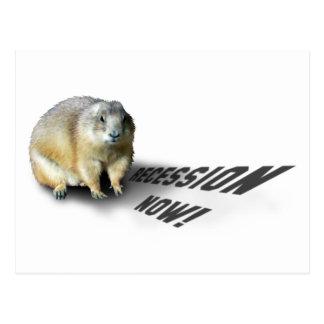 Cartão Postal Groundhog Phil diz…