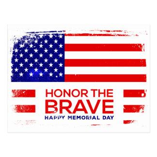 Cartão Postal Grunge do Memorial Day
