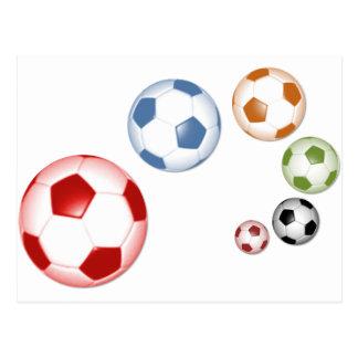 Cartão Postal Grupo bonito do futebol ou do futebol de bolas