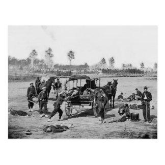 Cartão Postal Grupo da ambulância da guerra civil