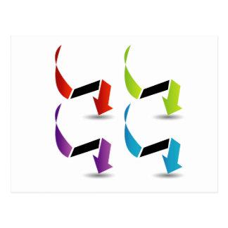 Cartão Postal Grupo de setas coloridas