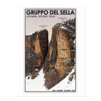 Cartão Postal Gruppo del Sella - Nove e Dieci