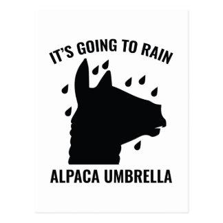 Cartão Postal Guarda-chuva da alpaca