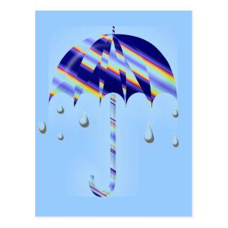 Cartão Postal Guarda-chuva do primavera