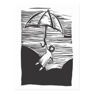 Cartão Postal Guarda-chuva do vôo