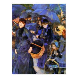 Cartão Postal Guarda-chuvas de Pierre-Auguste Renoir-
