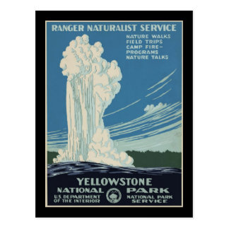 Cartão Postal Guarda florestal de parque do nacional de