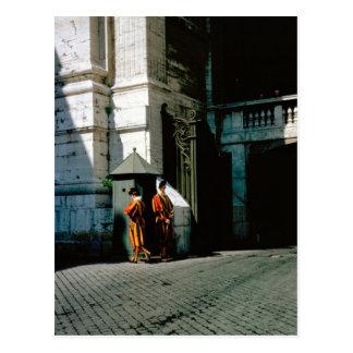 Cartão Postal Guarda suíça no vaticano