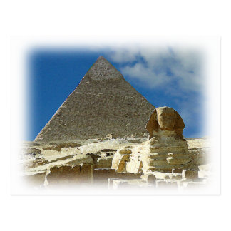 Cartão Postal Guardião de Giza