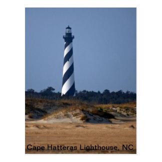 Cartão Postal Guardião do farol de Hatteras do cabo do Atlântico