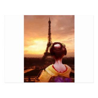 Cartão Postal Gueixa em Paris