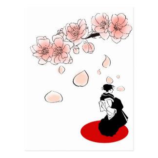 Cartão Postal gueixa japonesa