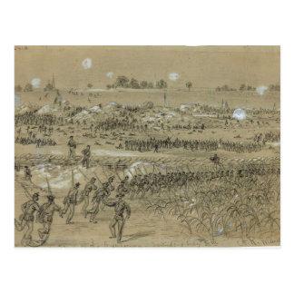 Cartão Postal Guerra civil: Exército de união em Petersburgo e