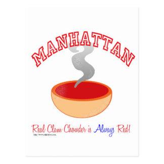 Cartão Postal Guerra do Chowder de Manhattan