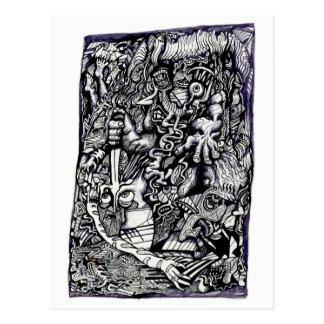 Cartão Postal Guerreiro alfa, por Brian Benson