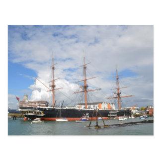 Cartão Postal Guerreiro alto do HMS do navio