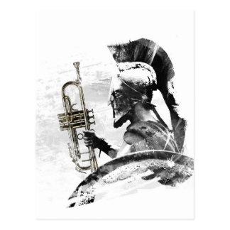 Cartão Postal Guerreiro da trombeta