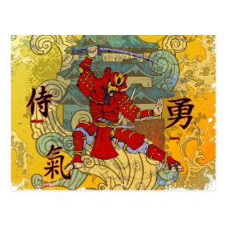 Cartão Postal Guerreiro do samurai