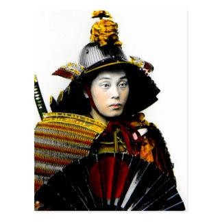 Cartão Postal Guerreiro do samurai do 侍 velho do guerreiro do