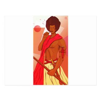 Cartão Postal Guerreiro somaliano Warranleh