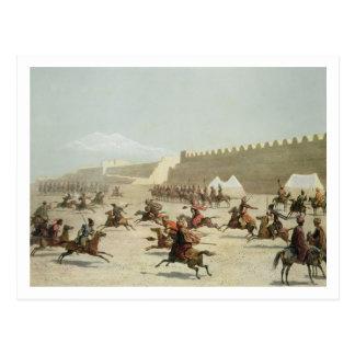 Cartão Postal Guerreiros curdos e Tatar em Sadar Abbat, Arménia