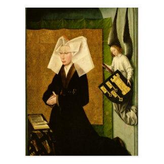 Cartão Postal Guigone de Salins, esposa do doador