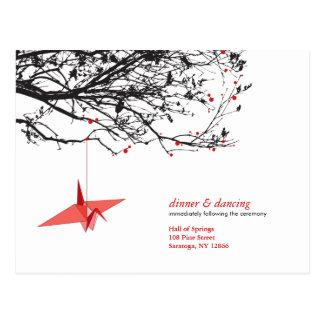 Cartão Postal Guindastes de papel de suspensão Origami RSVP