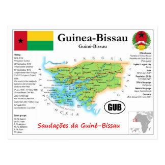 Cartão Postal Guiné-Bissau Map Postcard