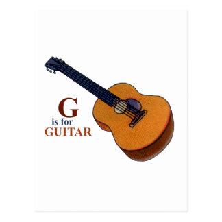 Cartão Postal Guitarra