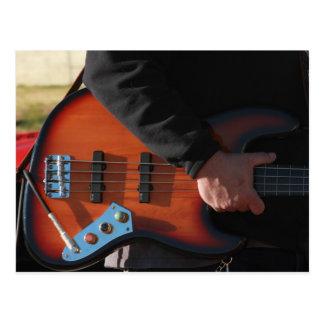 Cartão Postal Guitarra baixa